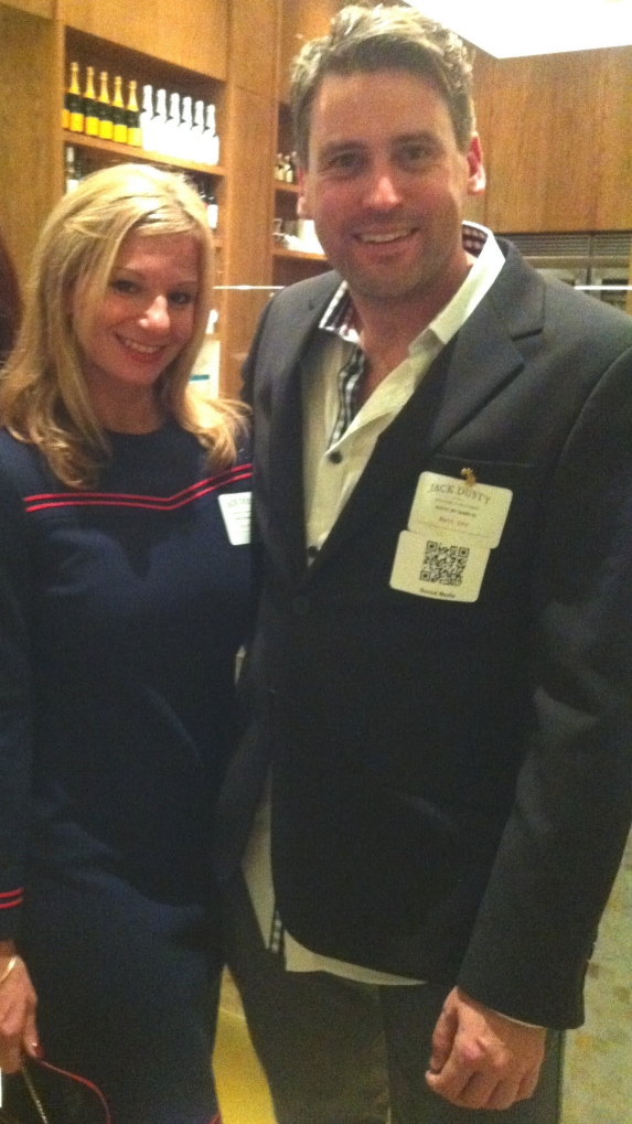 Matt Orr and Dayle Hoffmann 1/19/2013 at Jack Dusty Opening at Ritz Carlton Sarasota.