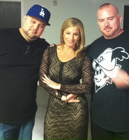 Host Dayle Hoffmann with Robert Sabado & JR Rodriguez filming Creative Minds Exposed.