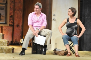 David Breitbarth as Steve and Sarah Brown as Lindsey. Photo by Barbara Banks.