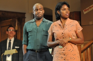 David Breitbarth as Karl, Christopher Wynn as Albert, and Tyla Abercrumbie as Francine. Photo by Barbara Banks.
