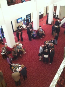 The lobby of Asolo as people start to arrive for Opening Night..