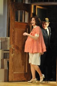Sarah Brown as Lindsey and David Breitbarth as Karl Photo by Barbara Banks.