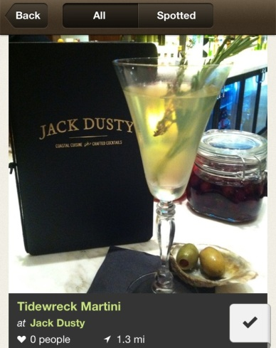 Tidewreck Martini at its best! Thank goodness for my Foodspotting account!