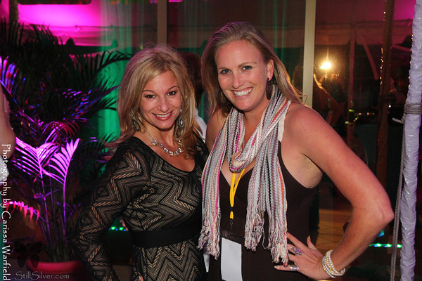 What a team... Dayle Hoffmann and Carissa Warfield enjoying the after party at SFF 2013