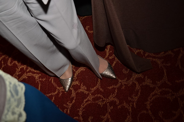 Emarie my friend and photographer loved Lillian Richmond's shoes, I agree. Fashion is at it's best on Opening Night.