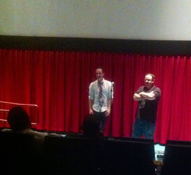 Director Gregory Collins and Tom Hall during the Q&A.
