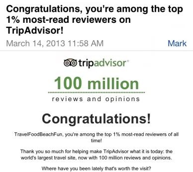 Trip Advisor email.. follow me.
