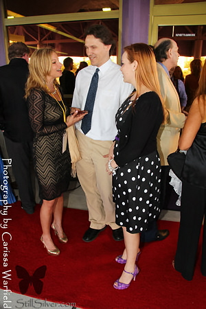 Robin and Brooke talking with me at Opening night of the SFF.