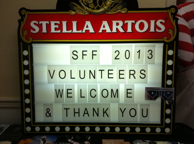 Be sure to thank the volunteers for their time when you see them. It's the little things that can make a difference.