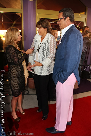 Dayle Hoffmann on the red carpet with Suzette Jones and Richard Dorfman.