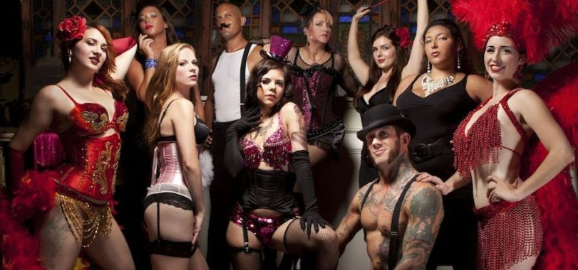Black Diamond Burlesque Troupe. (photo by Matthew Holler)