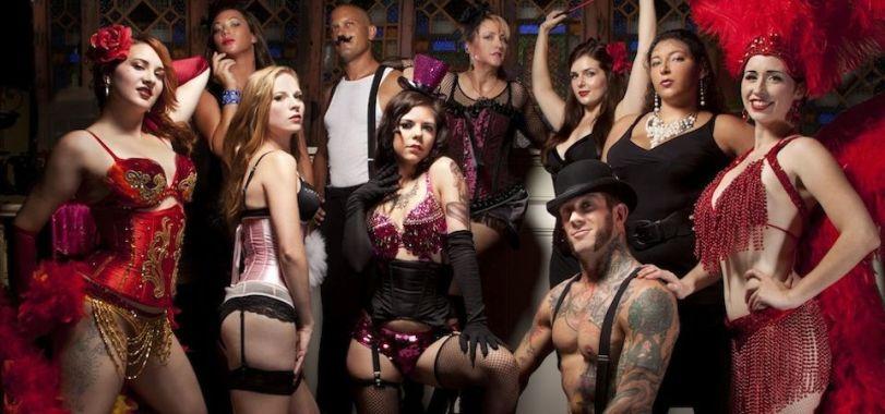 Black Diamond Burlesque Troupe. (photo by Matthew Holler)