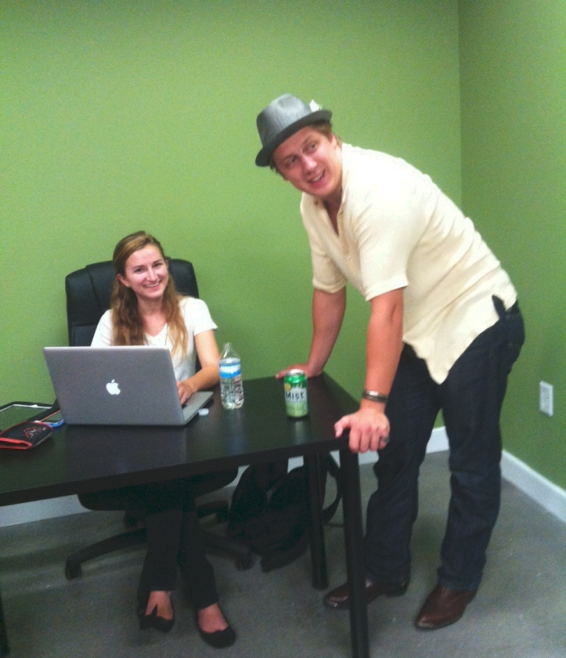 Intern, Caitlyn Durfee transcribed David's interview with me, it was only right to have her meet him.