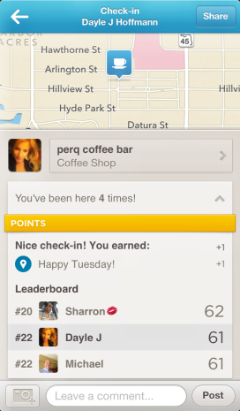 Foursquare is so kind, they wished me a Happy Tuesday, you too 4sq.
