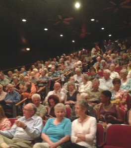 Sold out crowd Opening Night.
