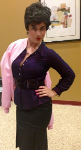 Meredith Garofalo as Rizzo after the play on Opening Night.