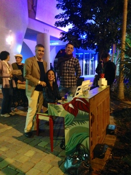 Stephen Seidensticker, owner of Louie's Modern with Steven Stenk, piano artist and Danielle Furst, musician.