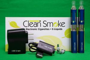 Clean Smoke electronic cigarette & e-liquids starter kit.