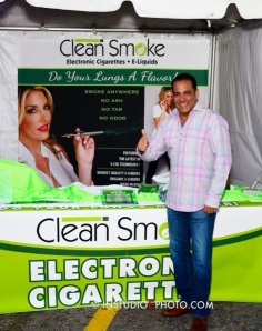Kirk Henry, owner of Clean Smoke Electronic Cigarette and e-Liquids.