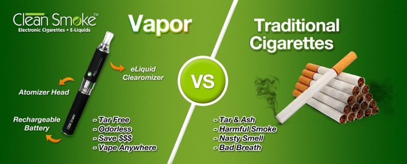 vapor vs traditional cigarettes, Clean Smoke e-cigarettes and e-liquids